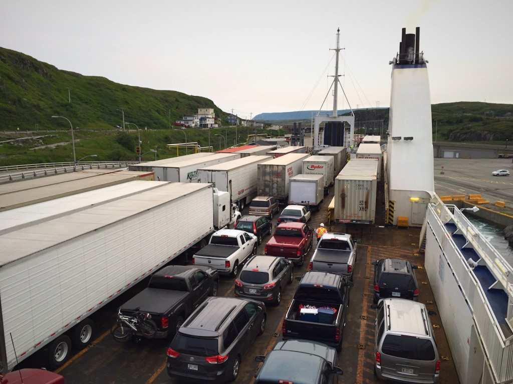 The view as we pulled into Port aux Basques dock on the ferry.