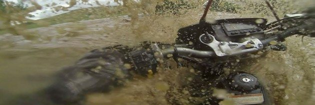 Motorcycle Caught in a Flash Flood