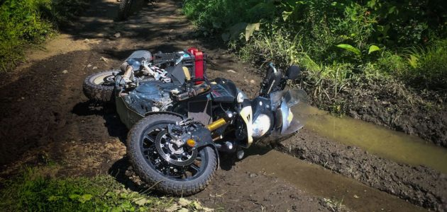 cropped V-Strom on K&P Trail Adventure Motorcycle Riding