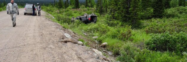 Wipe Out on the Trans Labrador Highway