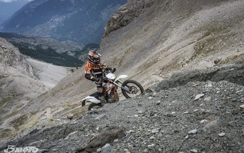 KTM Freeride 350 in the French Alps