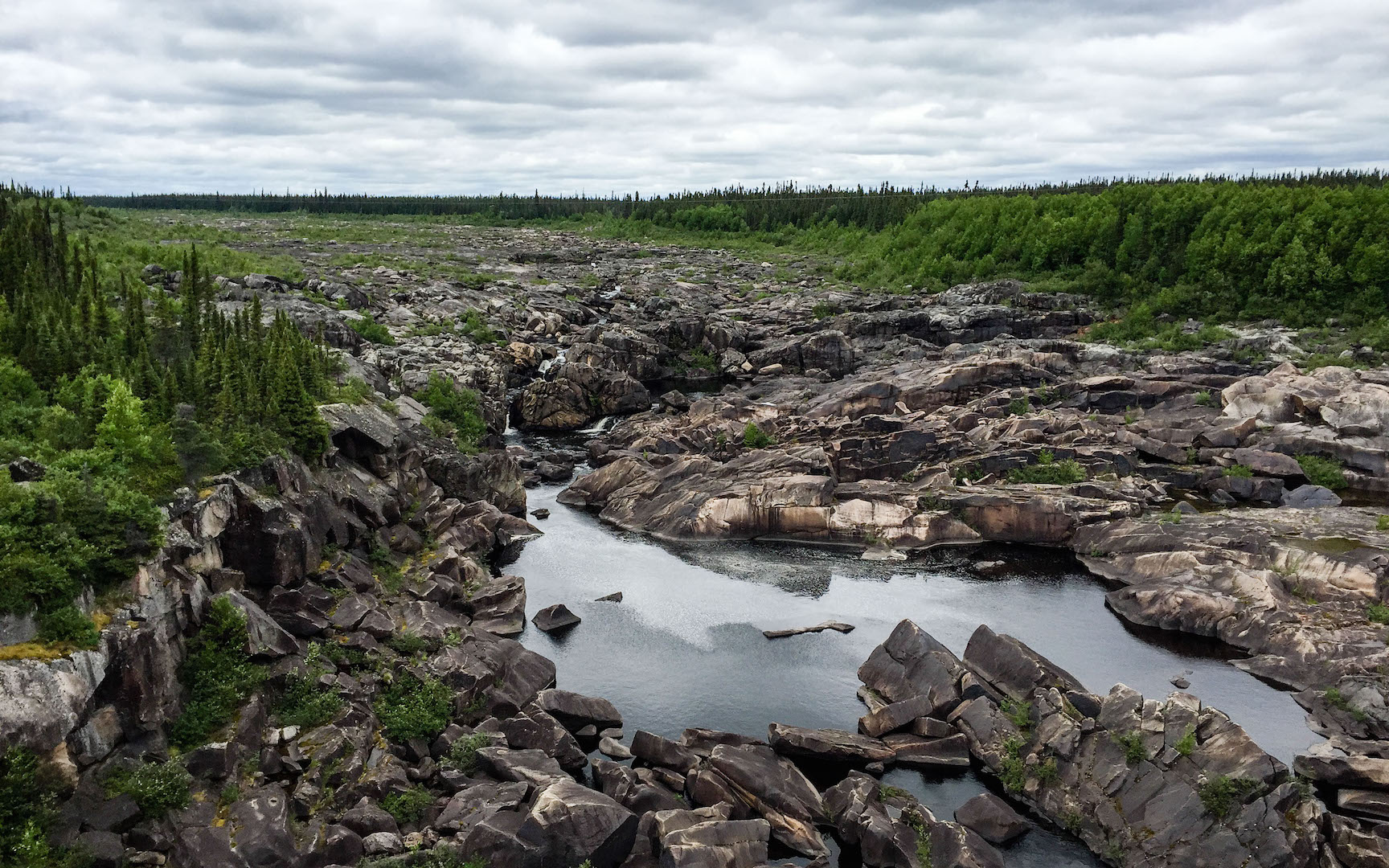 Old Churchill River bed