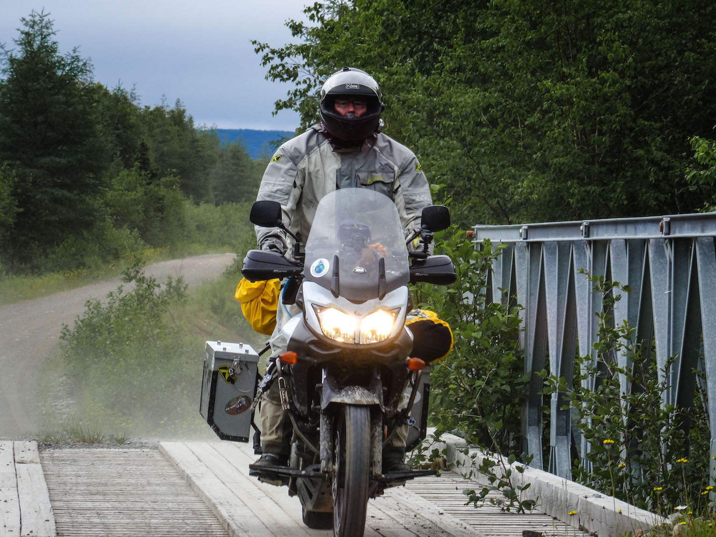 Jeff riding around Red Indian Lake, NL