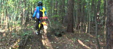 Riding a Suzuki DR650