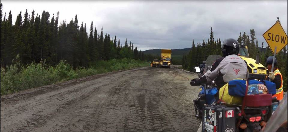 Construction on the trans labrador highway