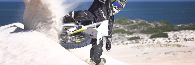Corben Weinert on a Husqvarna TC85