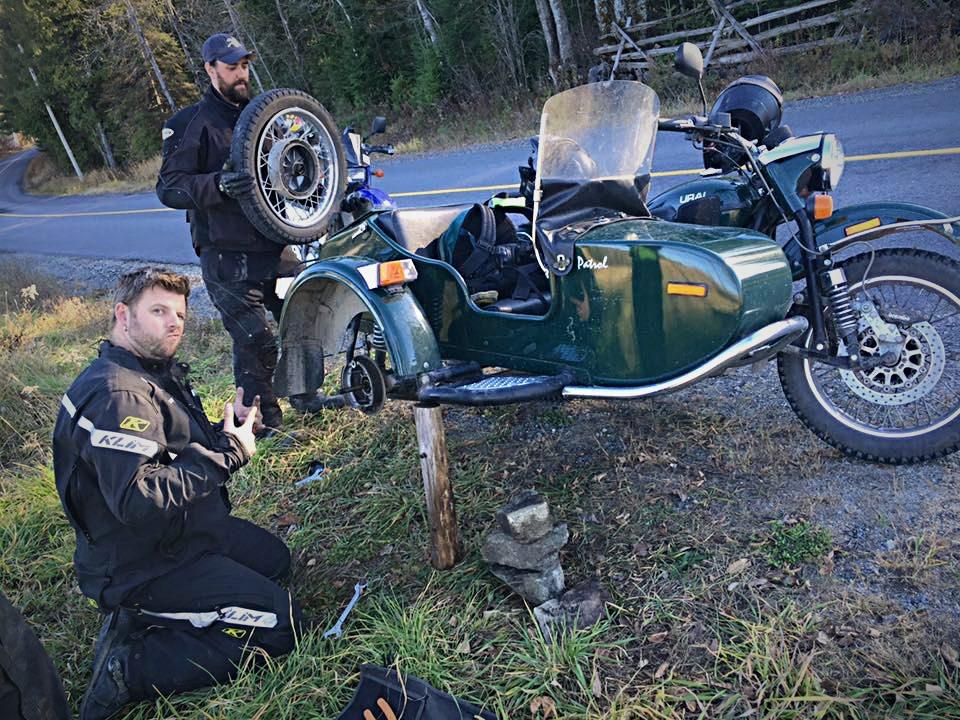Ural Motorcycle Pit Crew