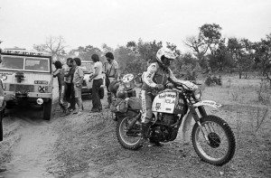 Cyril Neveu - Yamaha 500XT - Dakar 1979 first Dakar Rally