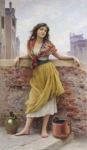 The Water Carrier 1908 by Eugene de Blaas