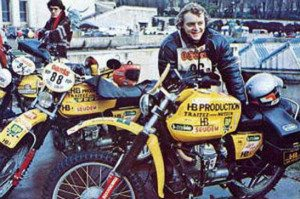 Eric Bretton – Guzzi V50 (500 TT) – first Dakar Rally
