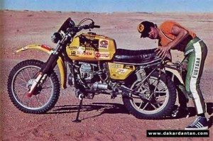 Bernard Rigoni - Guzzi V50 (500 TT) - first Dakar Rally