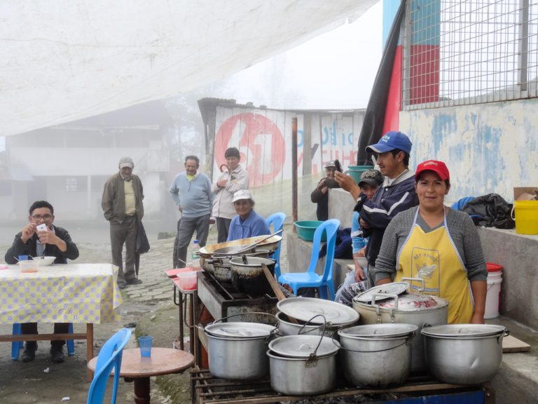 A poultice in Ecuador after motorcycle accident