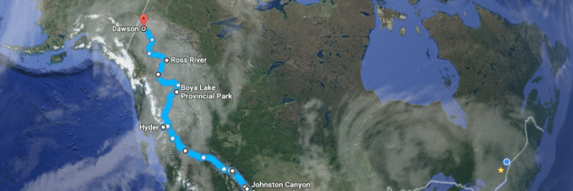 The Rocky Mountains to Dawson City