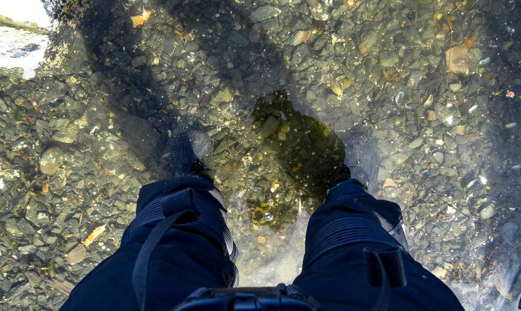 Boots in The Water - Rockhurst Harbour, Hecate Straight, BC