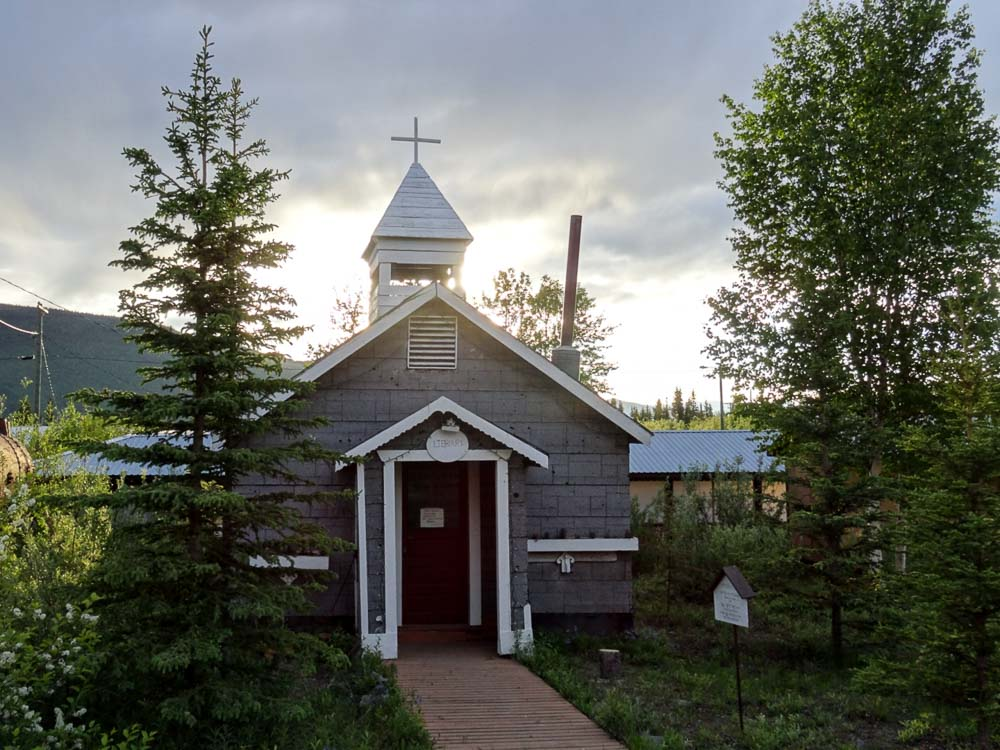 An Old Anglican Church that also serves as a library in Keno City, Yukon Canada