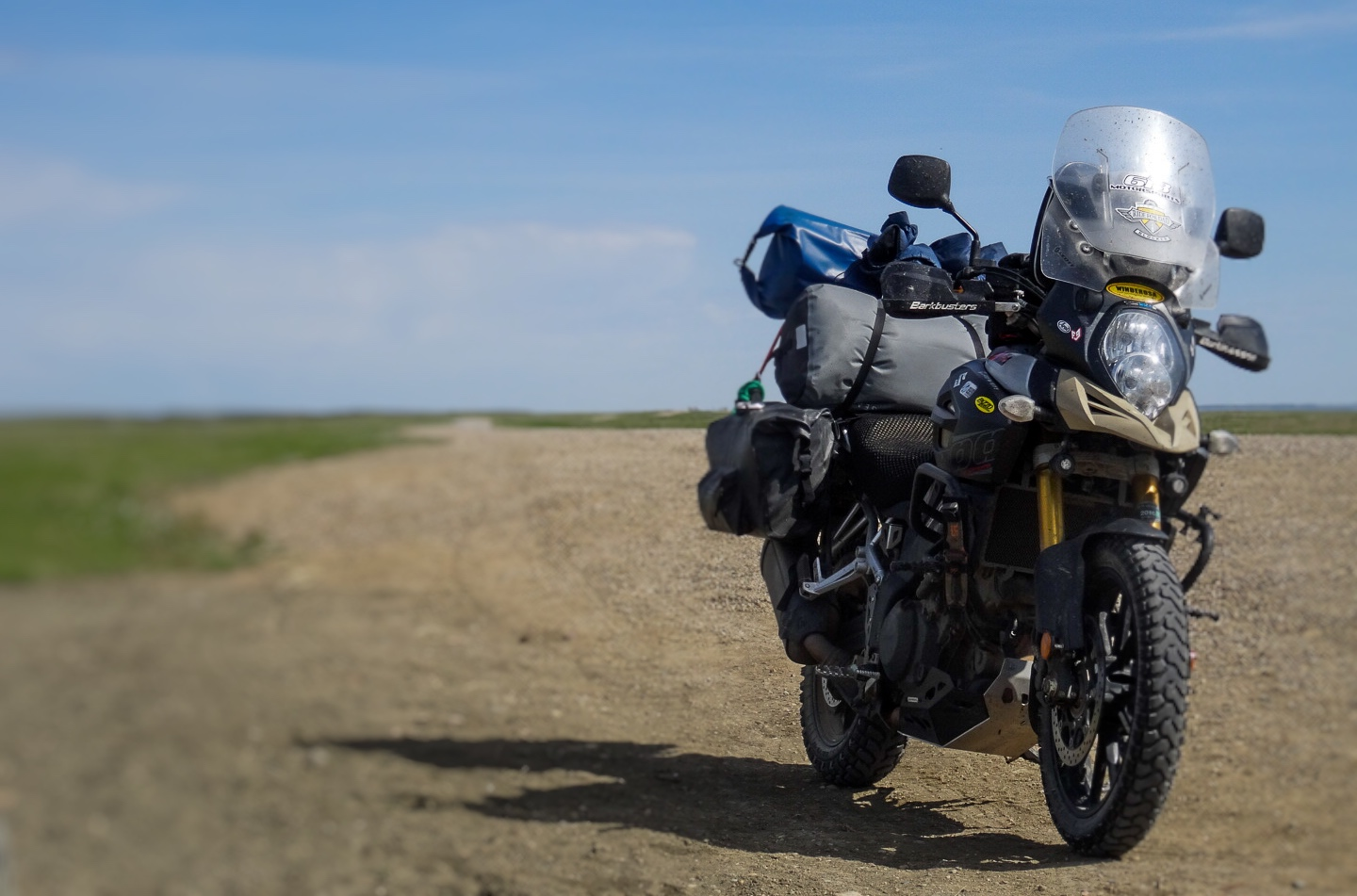 Suzuki Vstrom 1000 on the Canadian Prairies