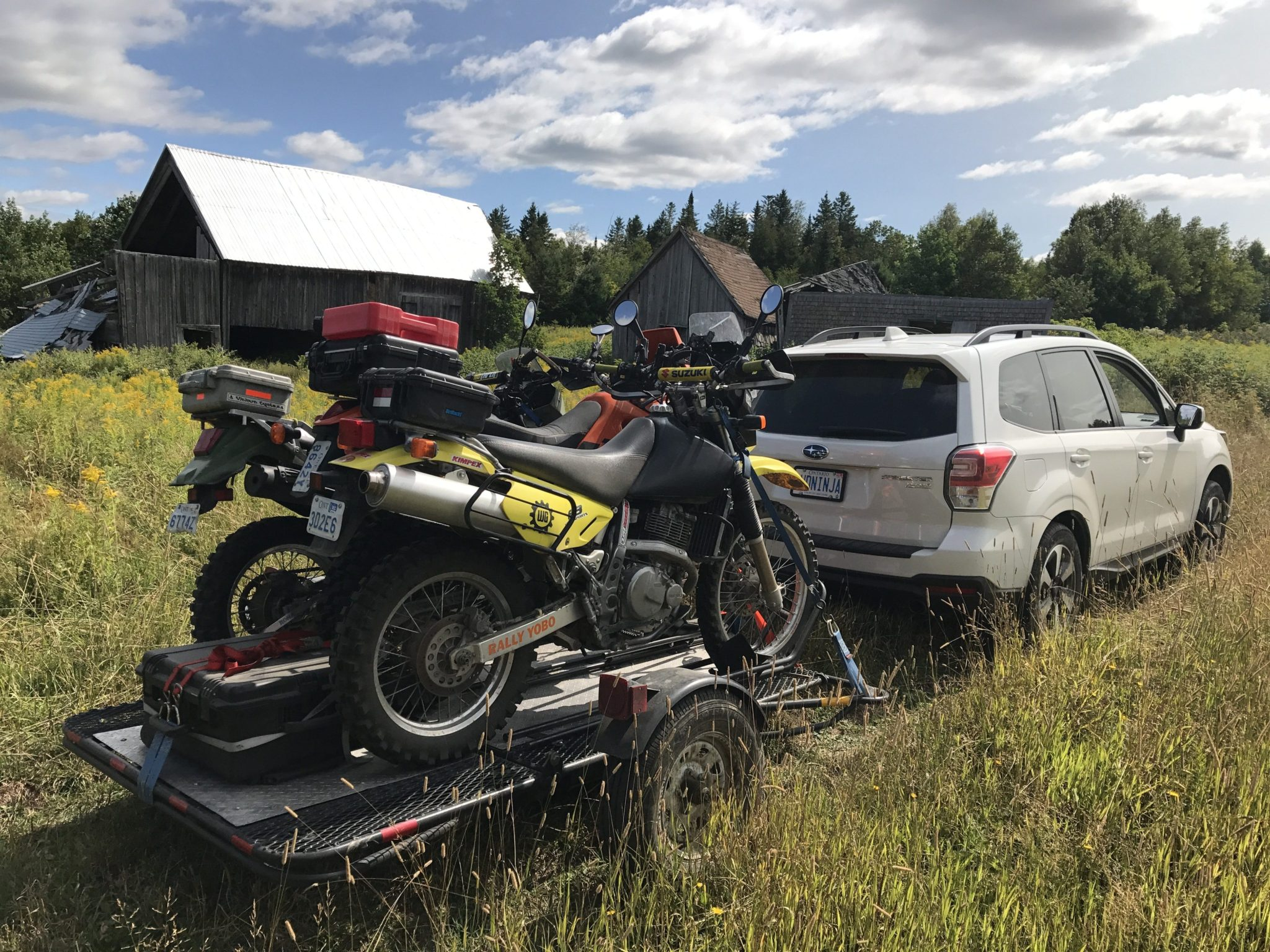 Fundy Adventure Rally 2017 3 Bikes On A Trailer