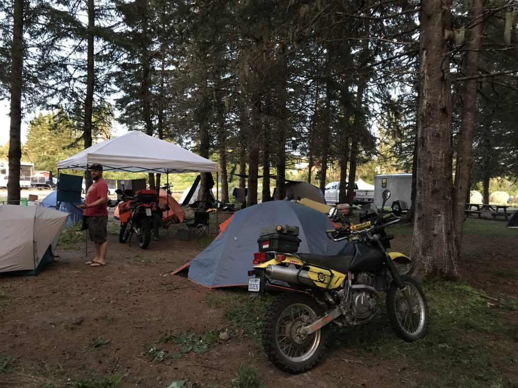 Campsite setup Fundy Adventure Rally 2017 Sussex New Brunswick