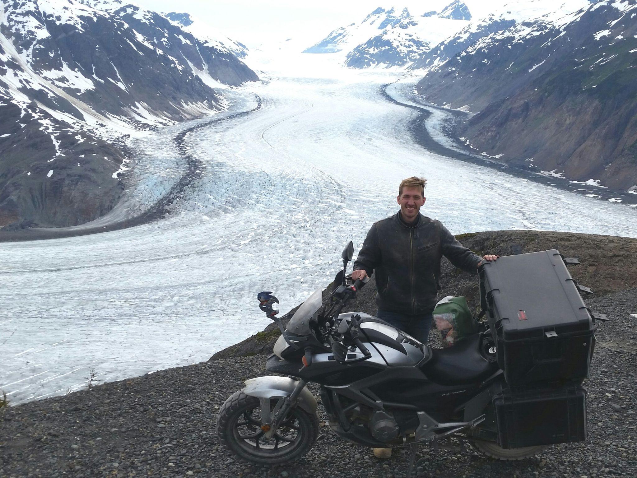 Brett everywhereman Salmon Glacier Hyder Alaska