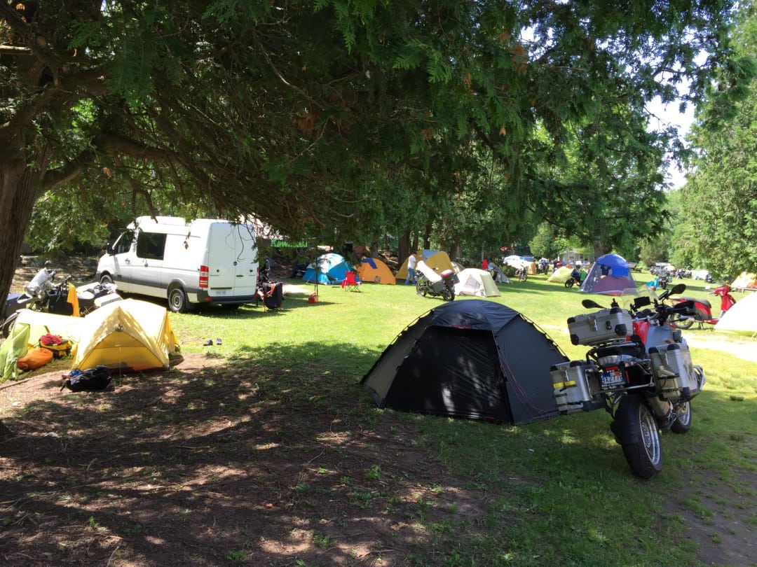motorcycle campers and camper vans