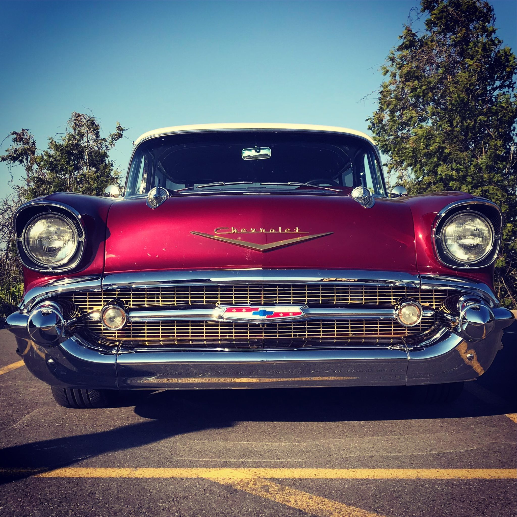 Photo of the front of a 1957 Chevrolet Bel Air