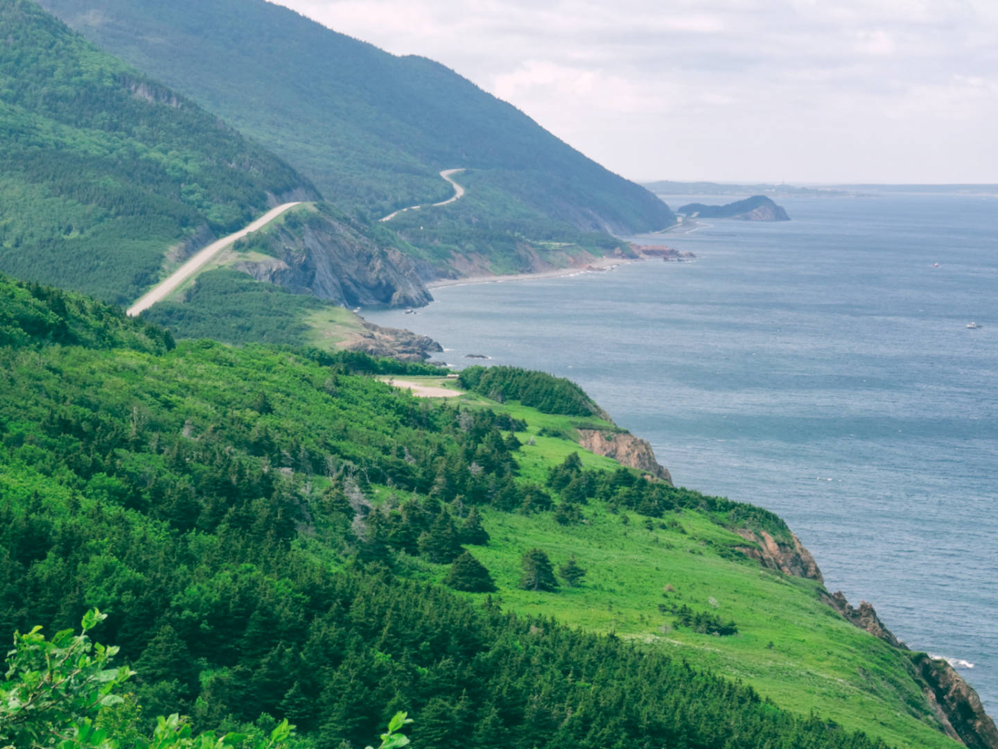 A photo of the Cabot Trail in the Cape Breton Highlands