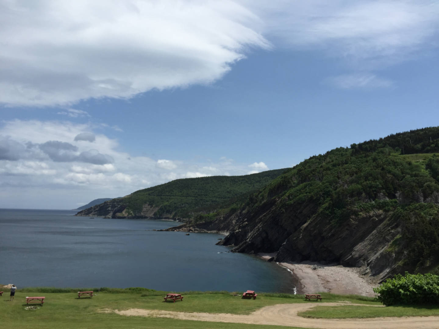 A photo of Meat Cove campground in NS