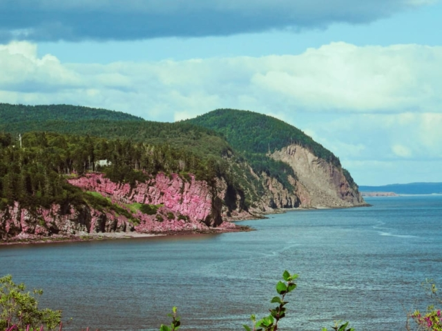 Overlooking the Bay of Fundy from Fundy National Park
