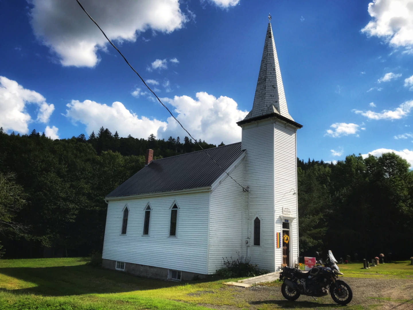 photo of an old church near Kingston New Brunswick