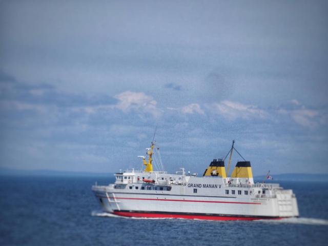 The Grand Manan V ferry heading back to Blacks Harbour, New Brunswick