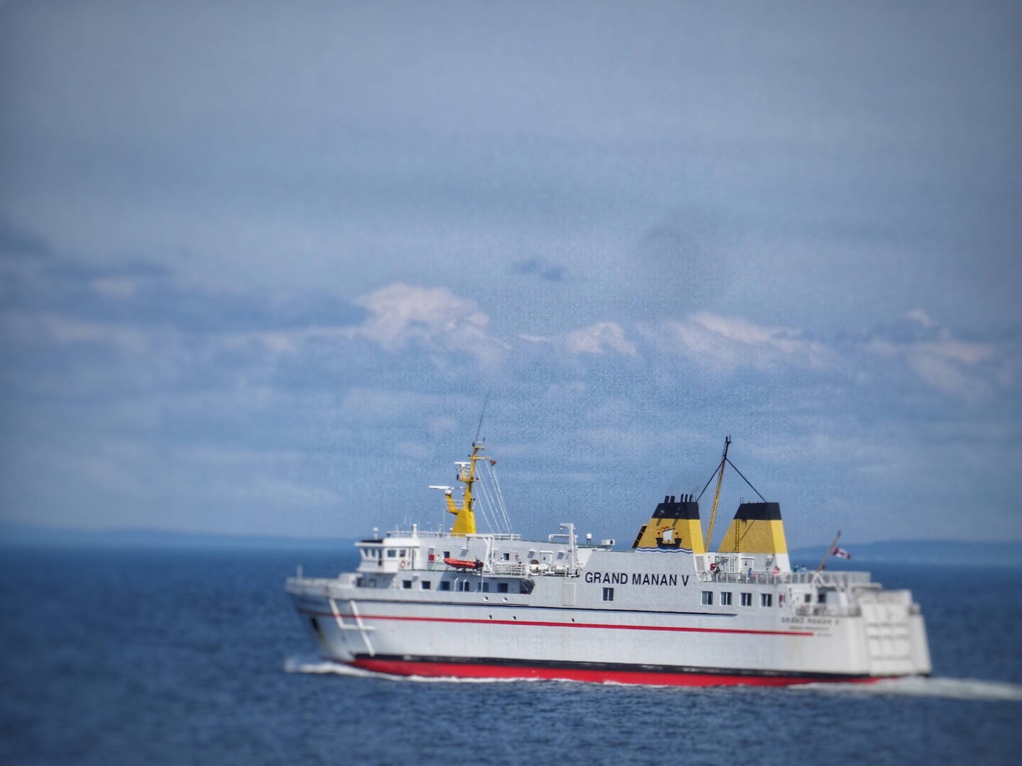 The Grand Manan V ferry heading back to Blacks Harbour, New Brunswick
