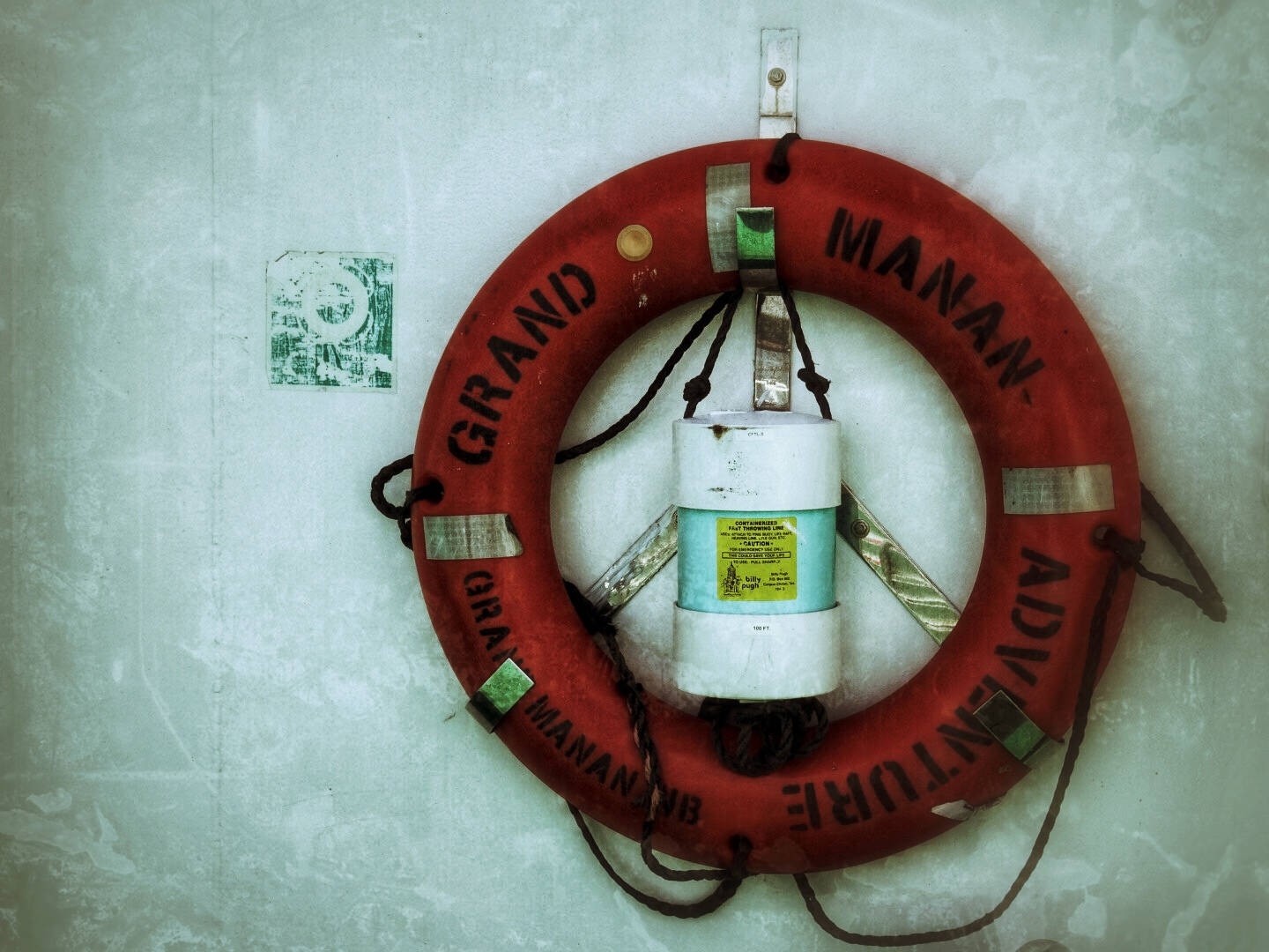 A life ring on the Grand Manan Adventure ferry boat