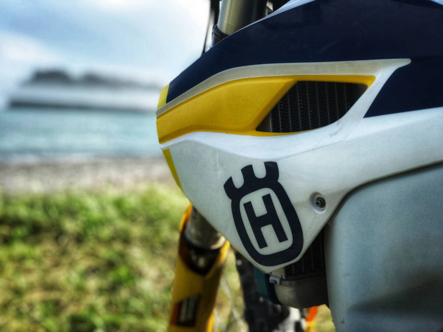Photo of a Husqvarna motorcycle at Martins Head Beach, NB