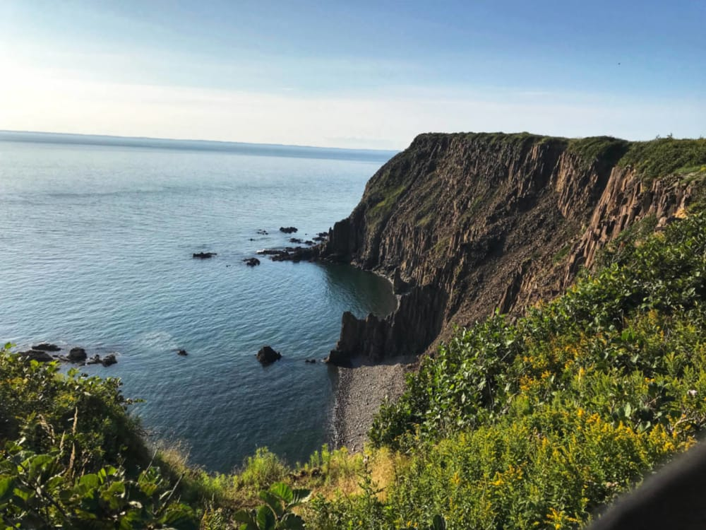 The craggy cliffs at Southern Cross Grand Manan Island