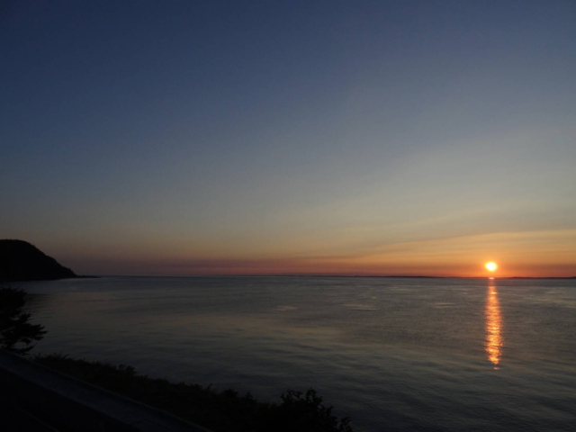 The sunset as seen from Arthur's Bench at Grand Manan Island