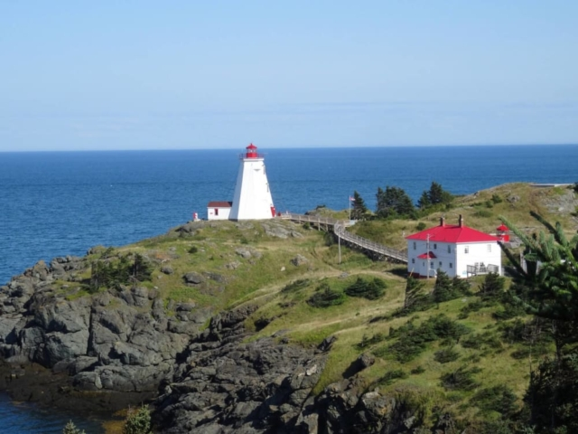 The Swallowtail light house at North Head, Grand Manan Island