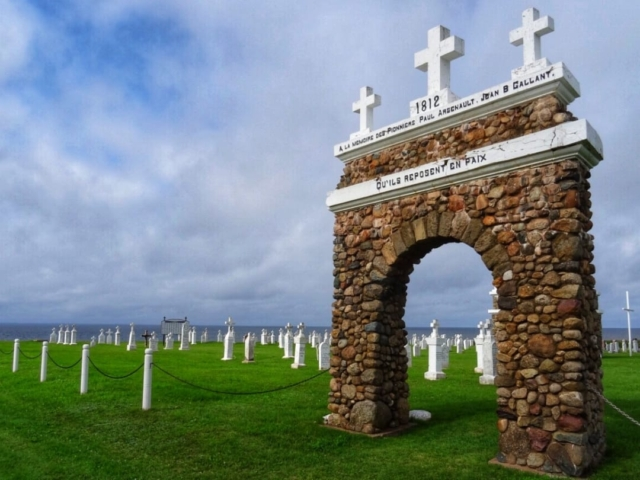 The cemetery at Mt Carmel PEI