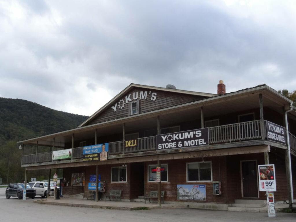 a photo of Yokum's general store at Seneca Rocks, West Virginia