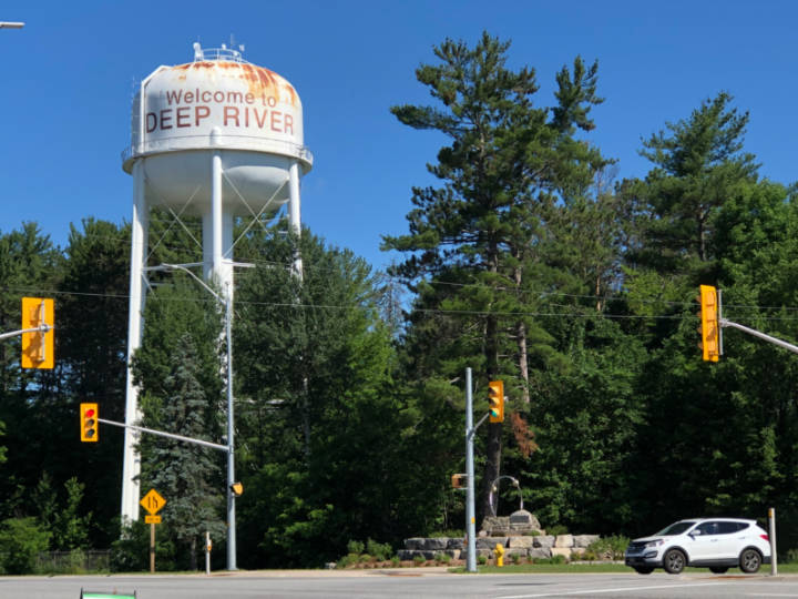 photo of the water tower in Deep River