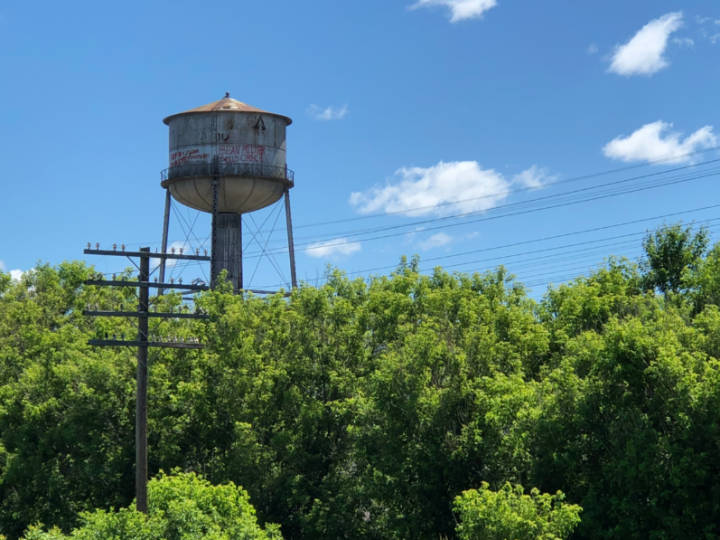 photo of th old water tower in Mattawa Ontario